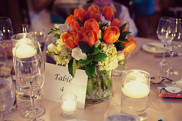 Southern-weddings-tulip-centerpieces