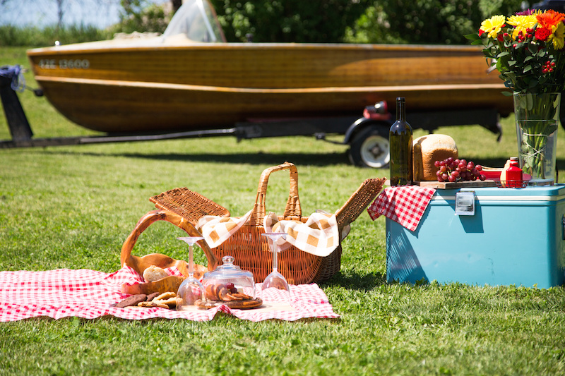 Boat launch day picnic