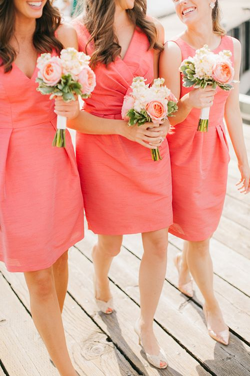 gorgeous-peach-bridesmaid-dress