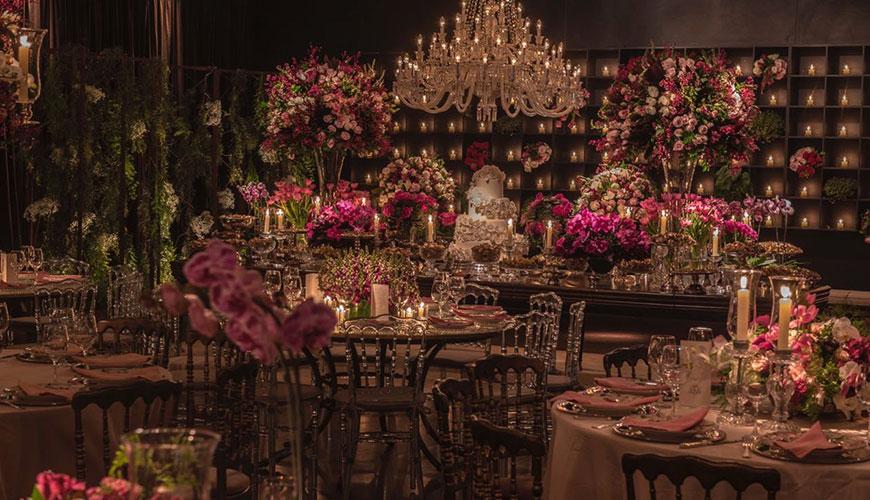 Decoração de casamento luxuosa por André Pedrotti