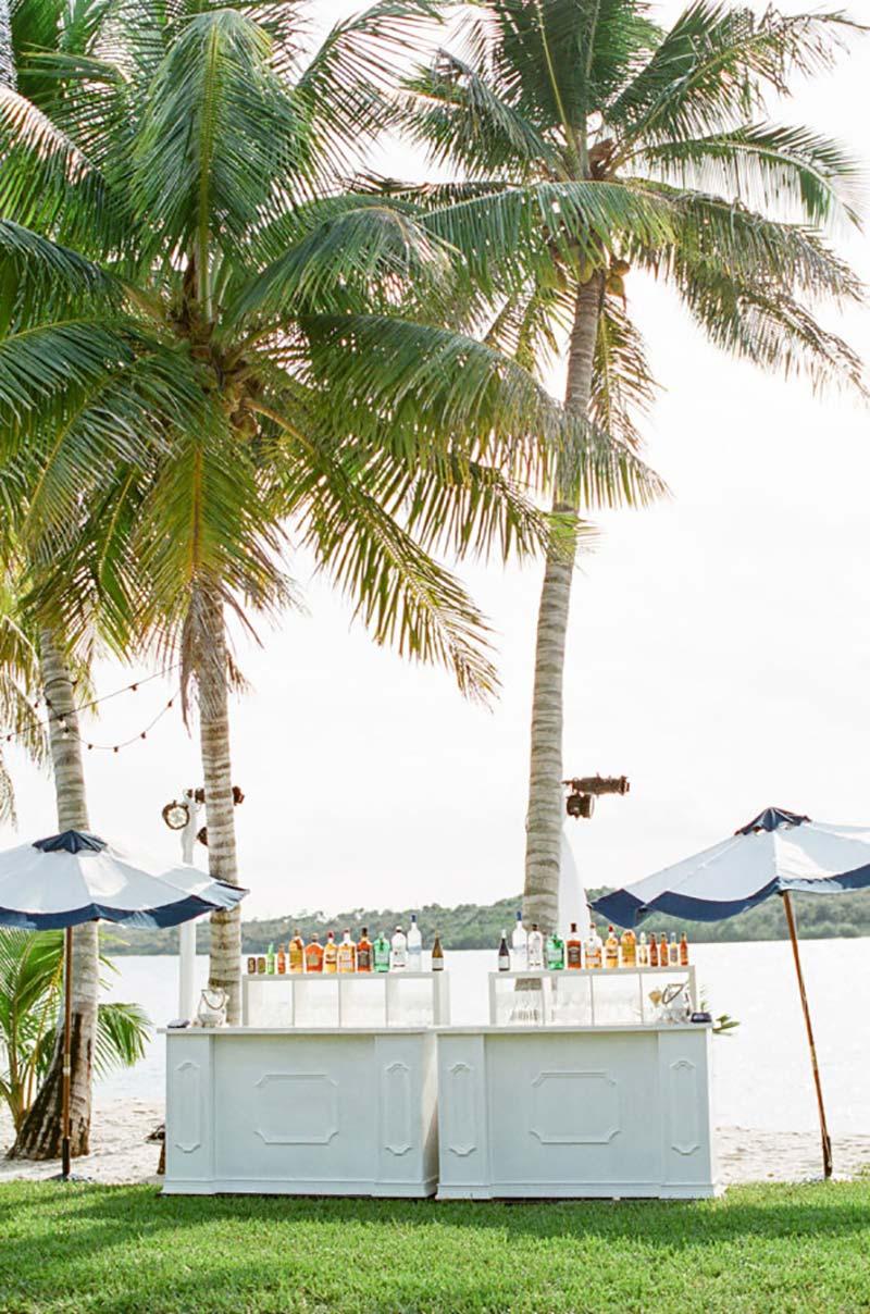 Bar para casamento na praia