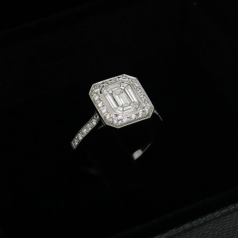 aparador de aliança com diamantes