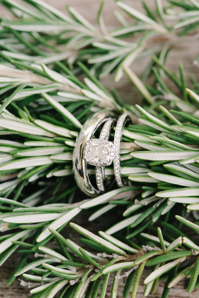 aparador de aliança com anel de noivado