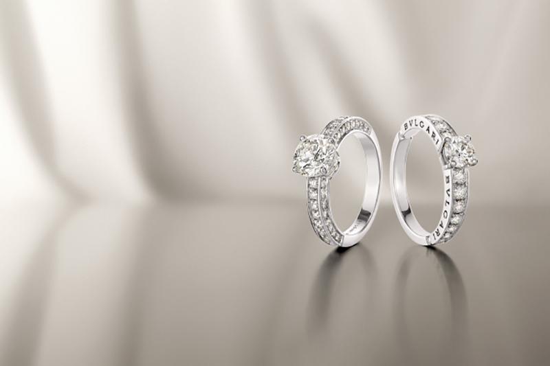 aneis de noivado da Bvlgari