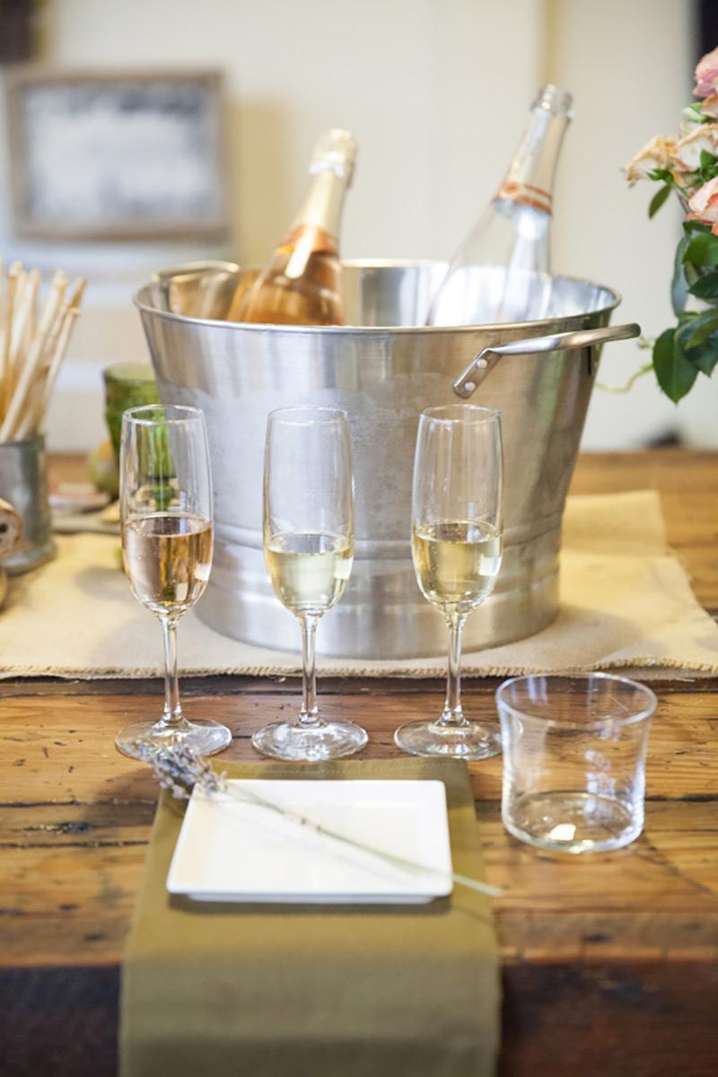champagne para chá de cozinha