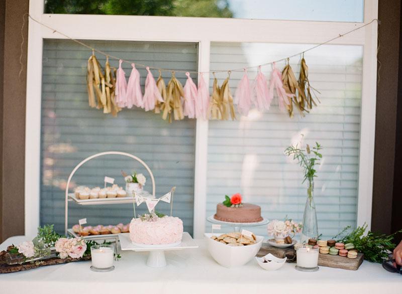 mesa de doces chá de cozinha