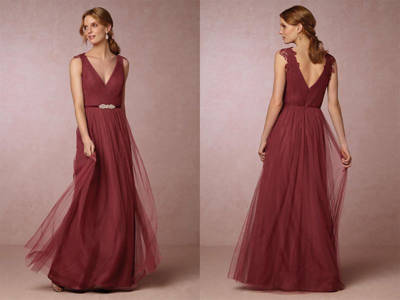 vestido para madrinha de casamento cor vinho