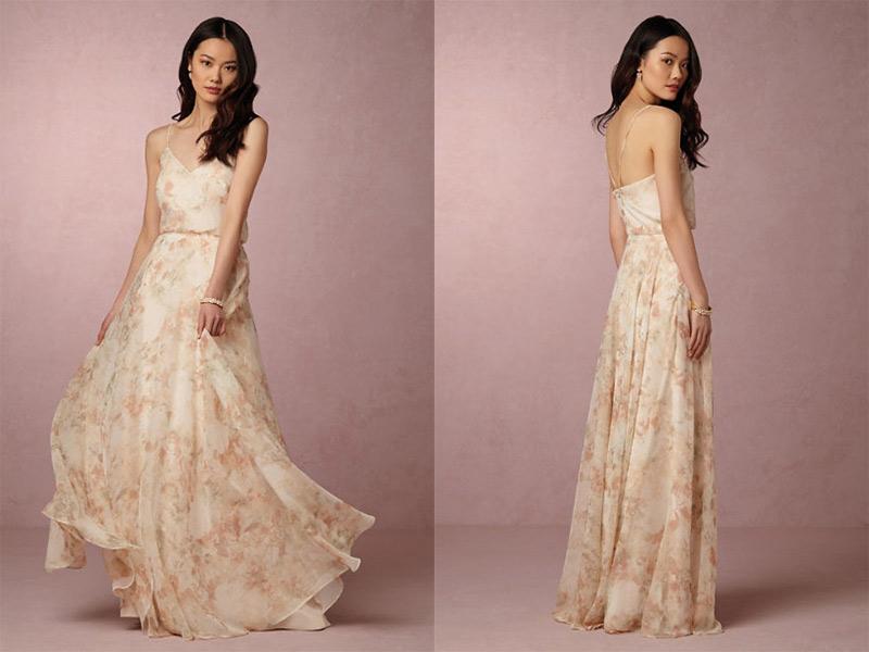 vestido para madrinha de casamento floral