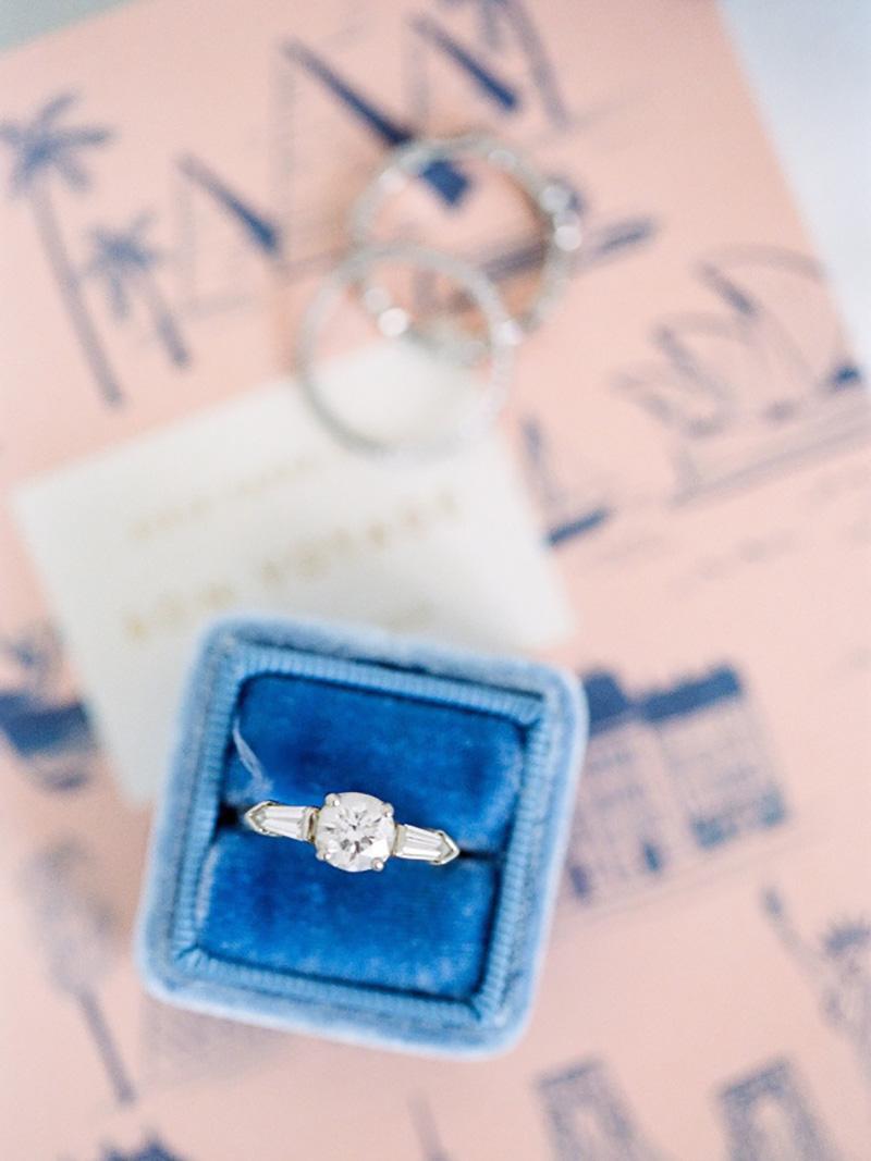 anel de noivado em ouro branco