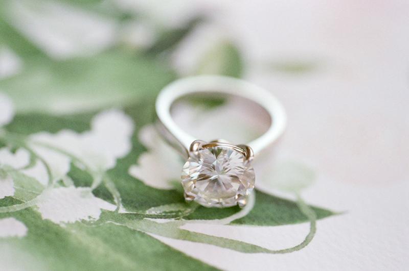 Anel de noivado solitário