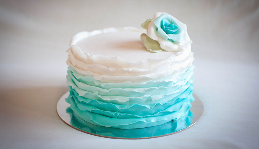 Ruffle cake ou bolo de casamento com babados