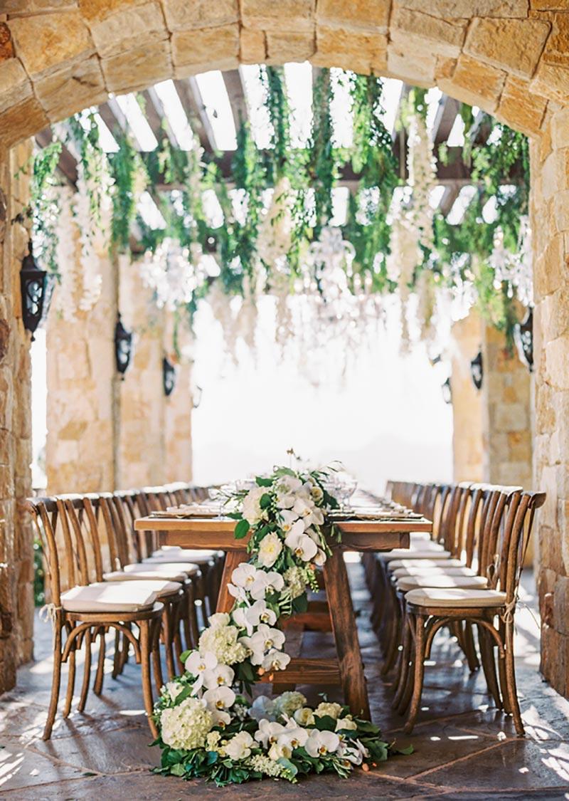 decoração aérea de casamento
