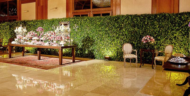 muro verde casamento