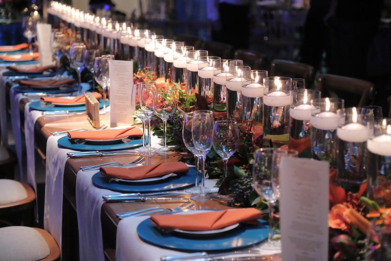 mesa de convidados de casamento