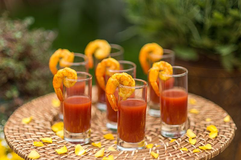 degustação camarão