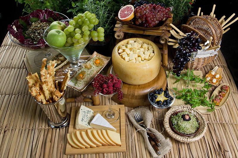 mesa degustação convidados