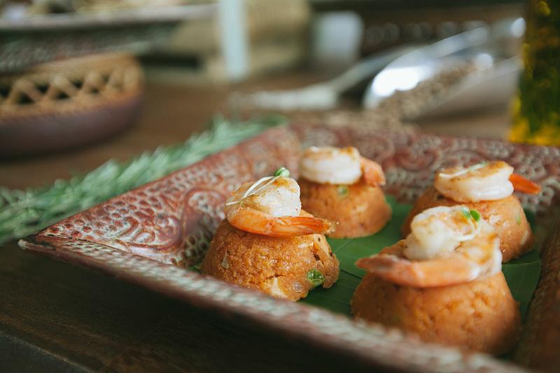 buffet com camarão para casamento