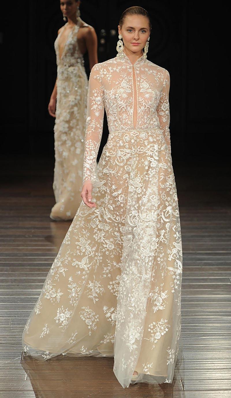 vestido de noiva com transparência
