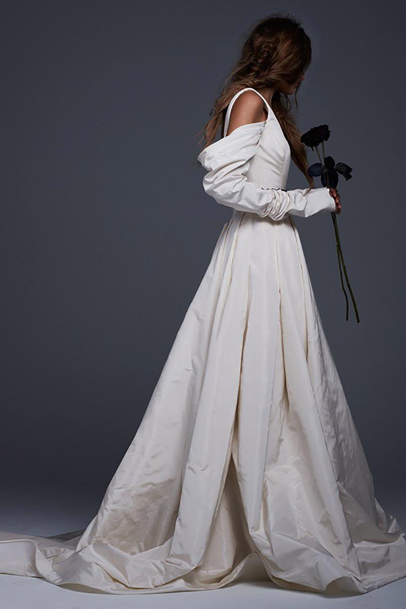vestido de noiva com manga moderno