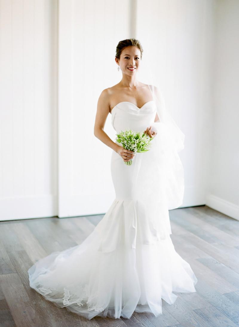 vestido de noiva com decote coração