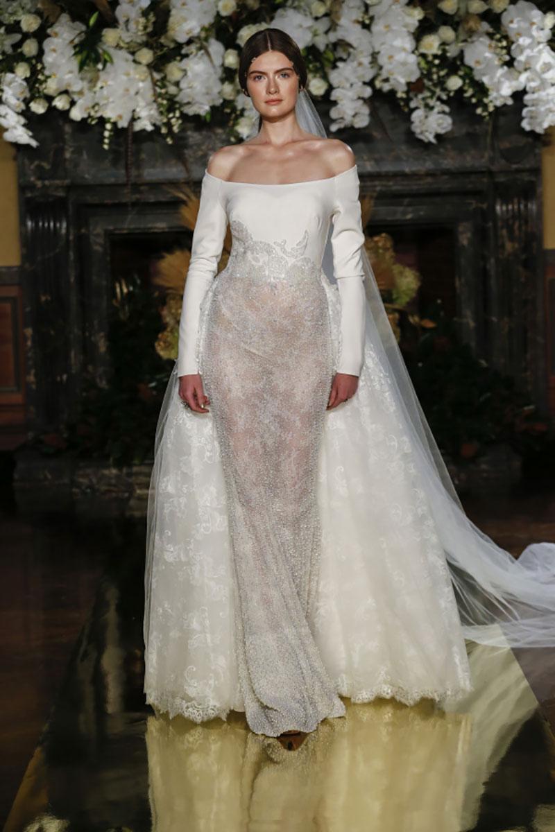 vestido de noiva com decote bateau