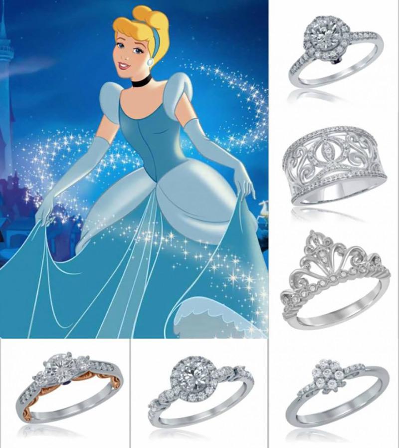 aneis de noivado cinderela