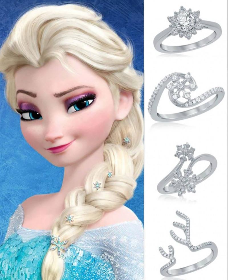 aneis de noivado elza princesa da disney