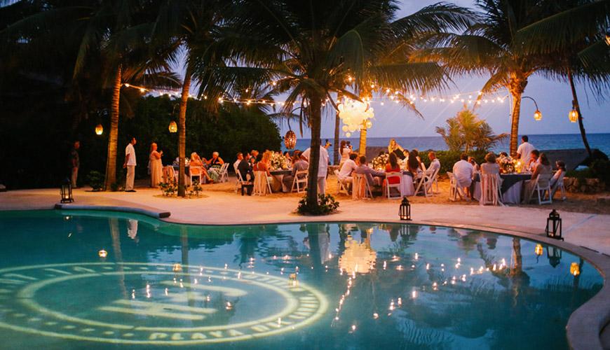 5 dicas essenciais para usar a piscina na decoração do casamento