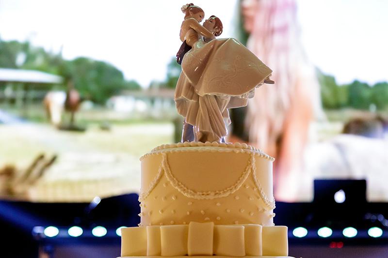 topo de bolo de casamento clássico