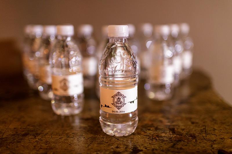 garrafa de água personalizada para casamento