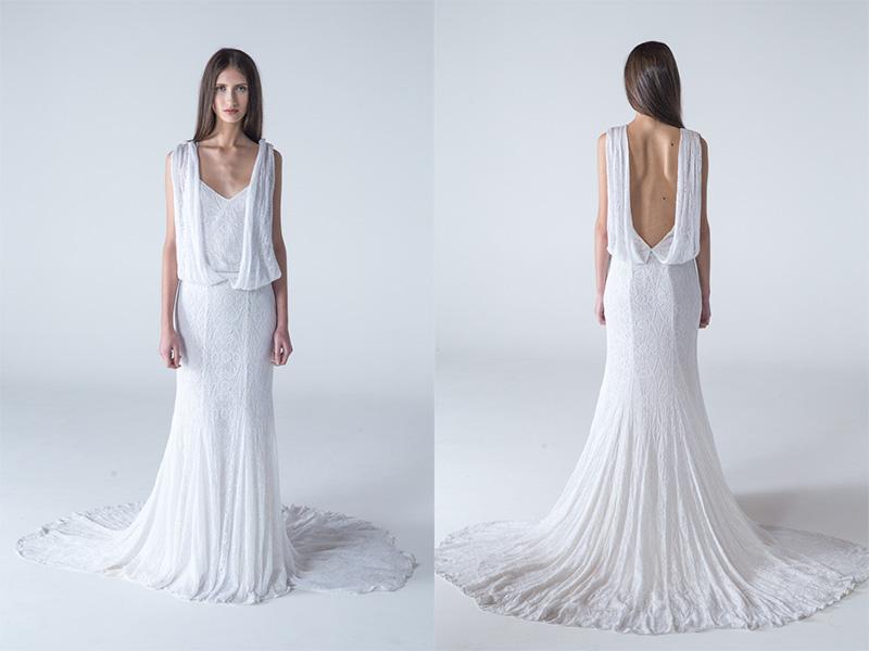 Vestido de noiva longo branco trinitá