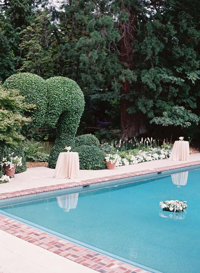 decoração de casamento com piscina