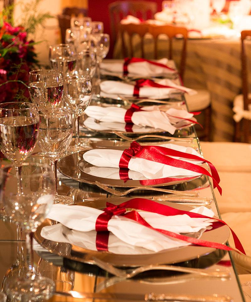 porta-guardanapo vermelho para casamento Madame Fiori