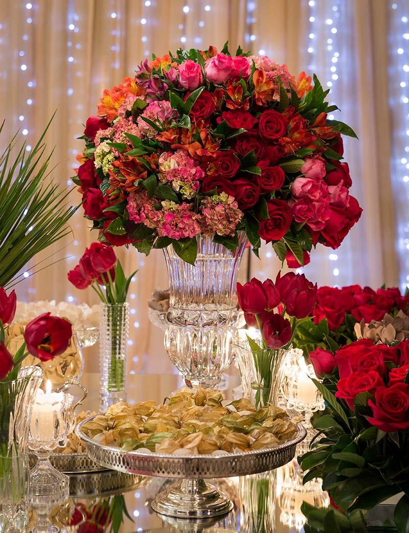 Decoração de casamento vermelha Madame Fiori