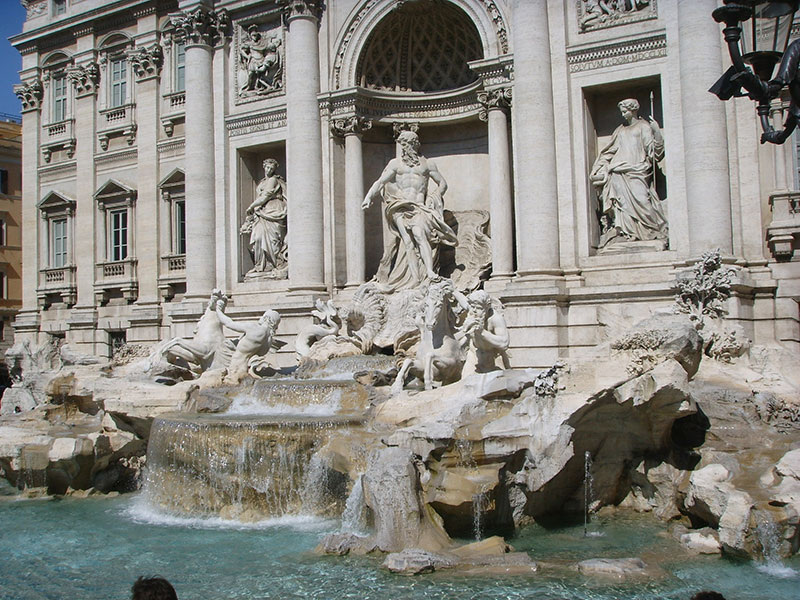 lua de mel na itália fontana di trevi