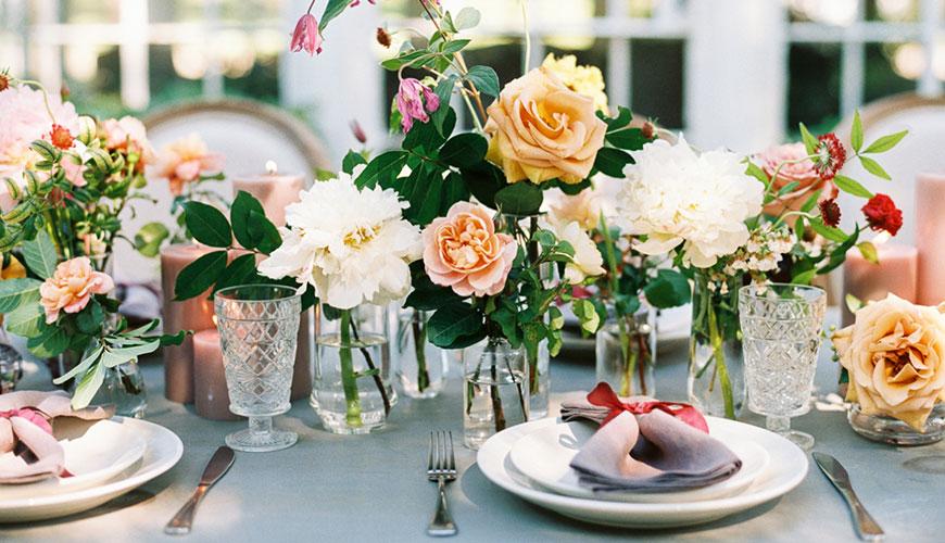 Como usar Azul e Marsala na Decoração de Casamento