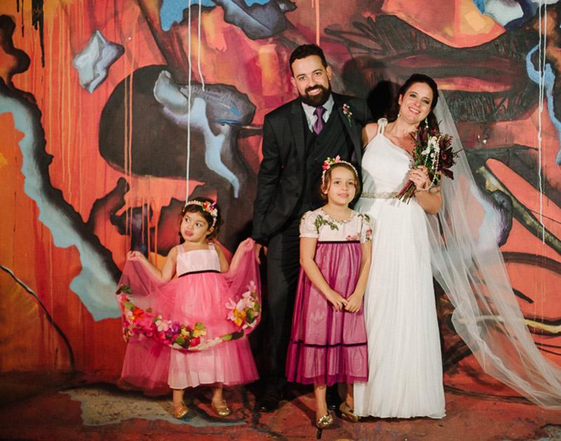 noivos com filhas