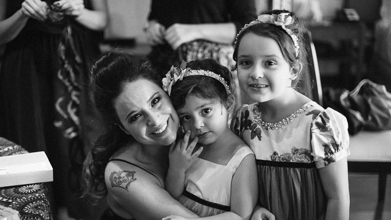 noiva e filhas daminhas