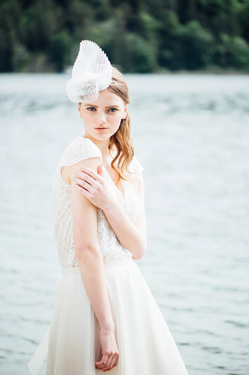 vestido de noiva com manga Solaine Piccoli