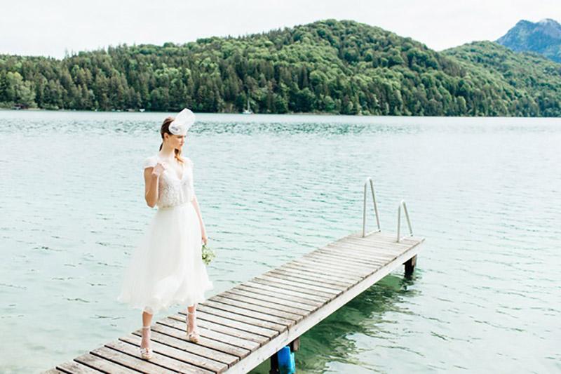 vestido de noiva curto Solaine Piccoli