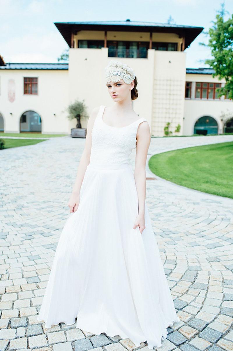 vestido de noiva para praia Solaine Piccoli