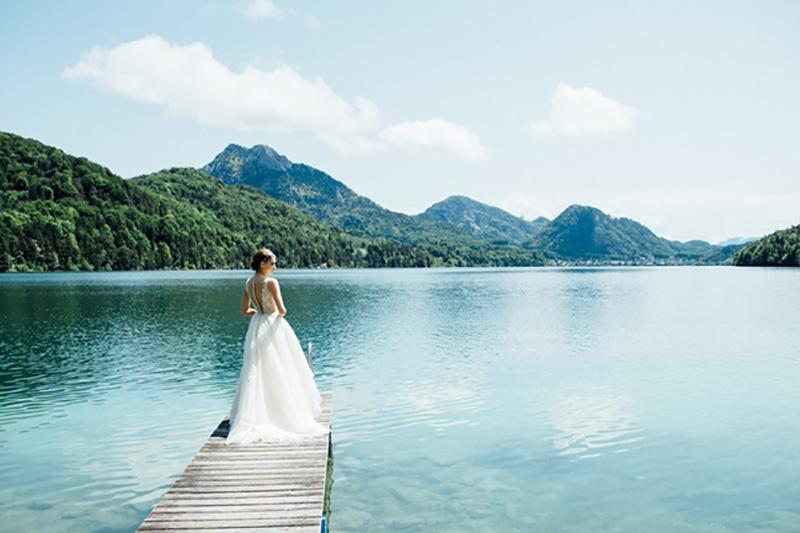 vestido de noiva para o campo Solaine Piccoli