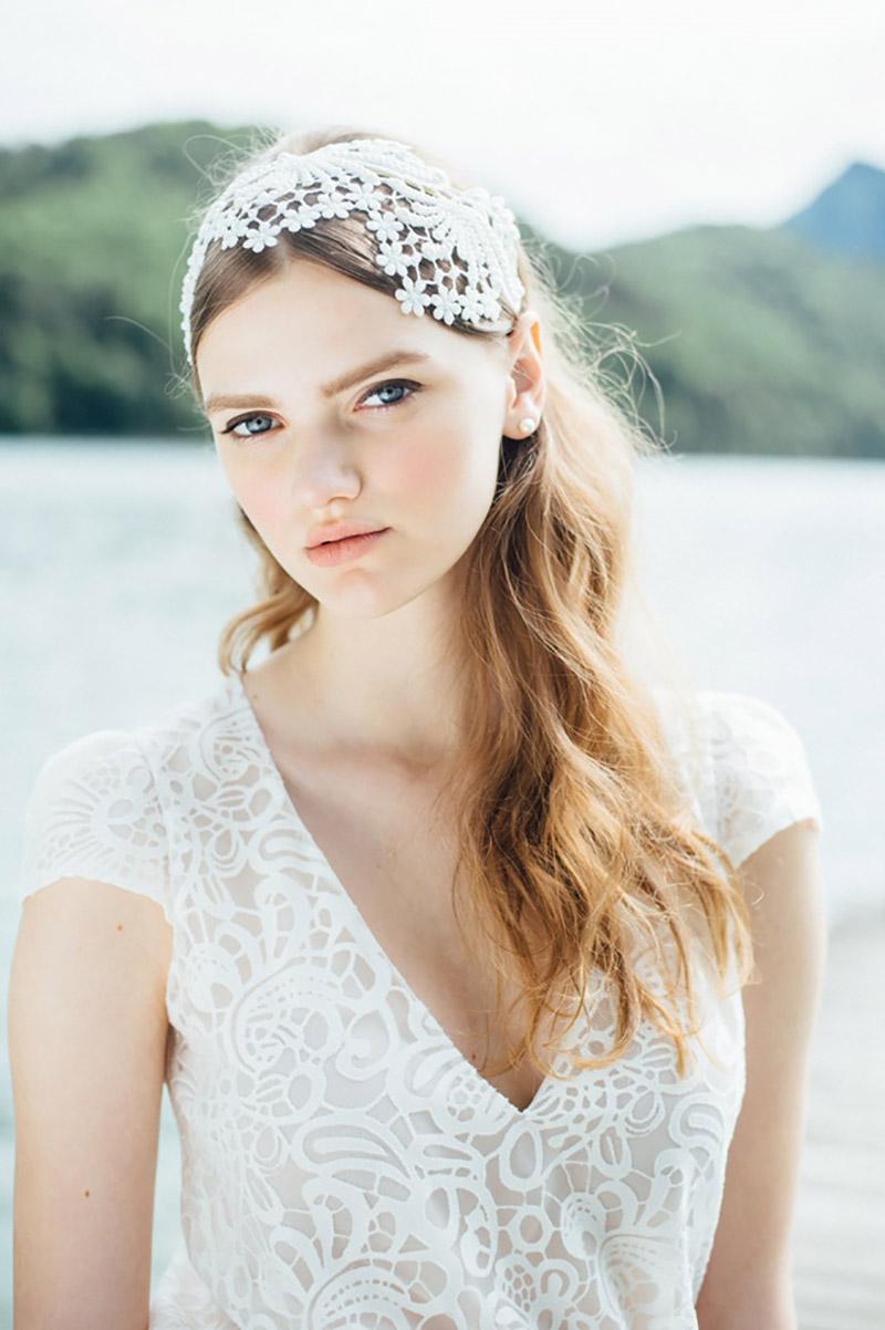 vestido de noiva com manda Solaine Piccoli