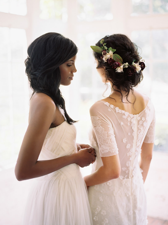 coroa de flores noiva com marsala