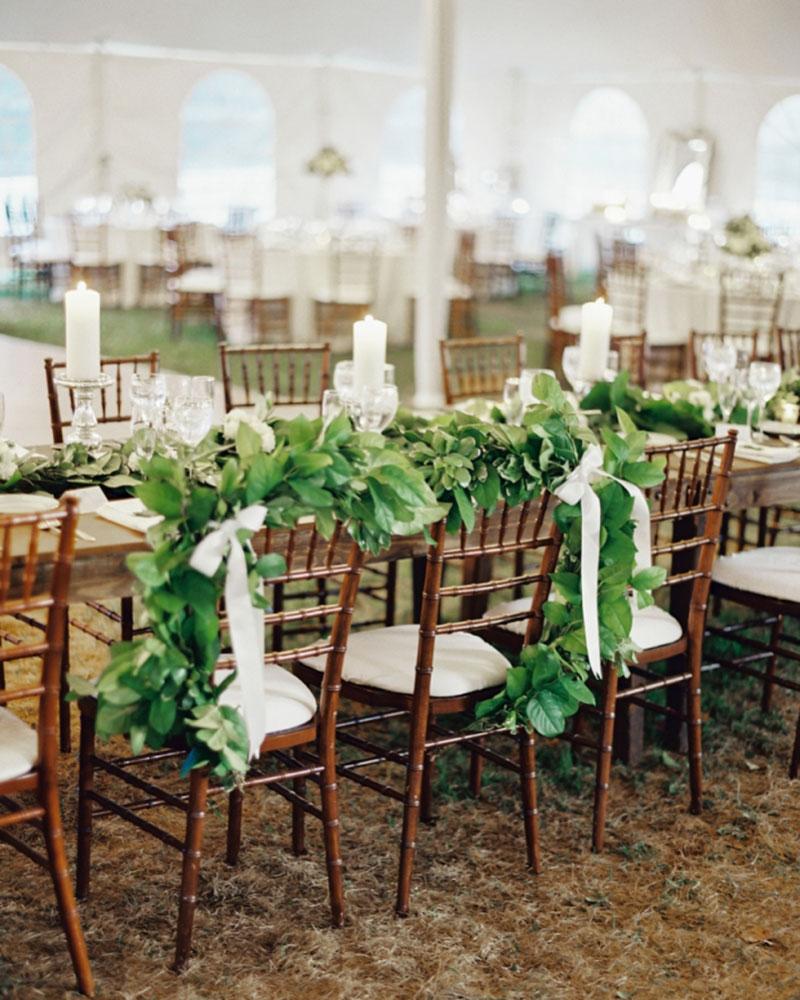 decoração de casamento com a cor greenery para 2017