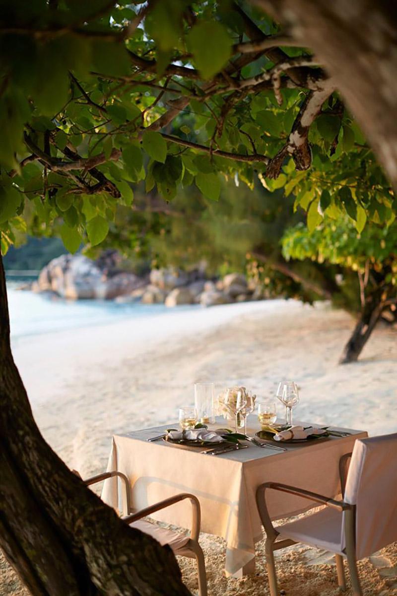 jantar romântico Ilhas Seychelles TM Travel