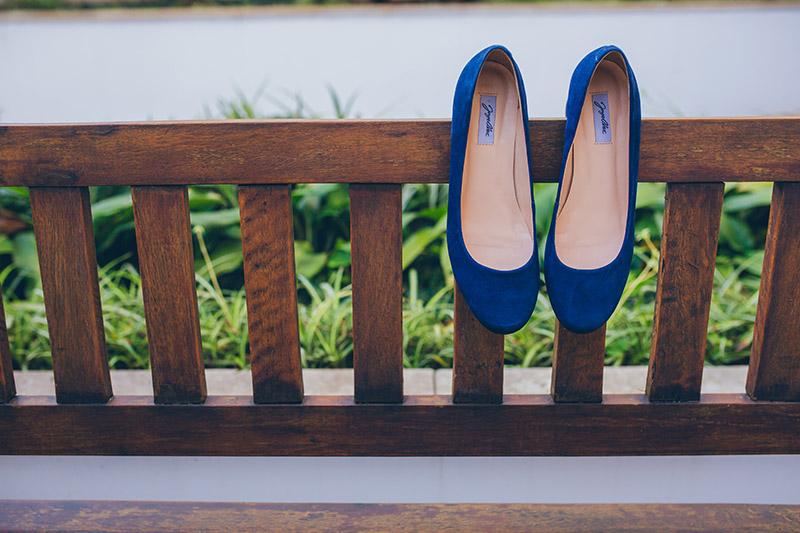 sapato azul para noiva
