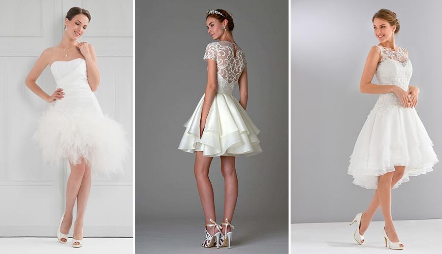 30 modelos de Vestido de Noiva Curto: tendência para 2017