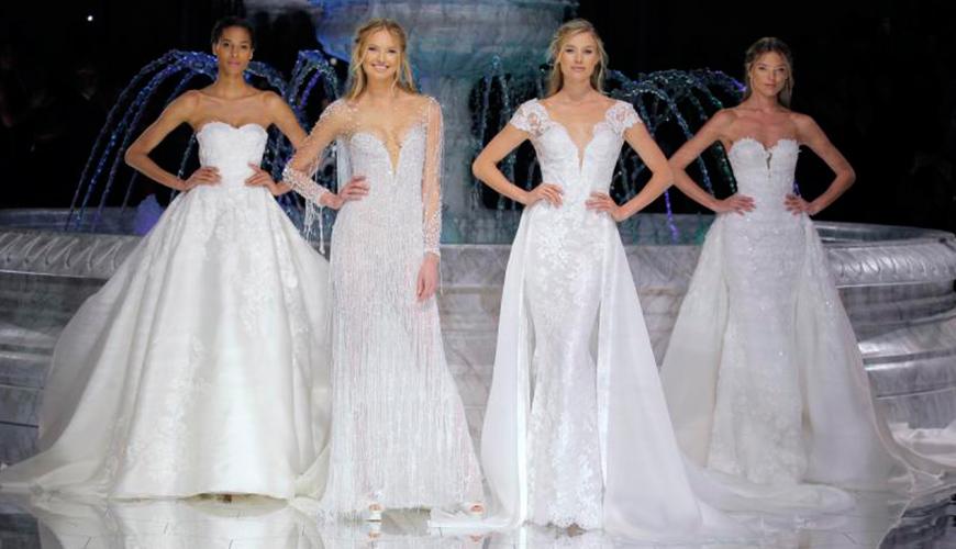 Tendências e vestidos de noiva apresentados no Barcelona Bridal Week 2017