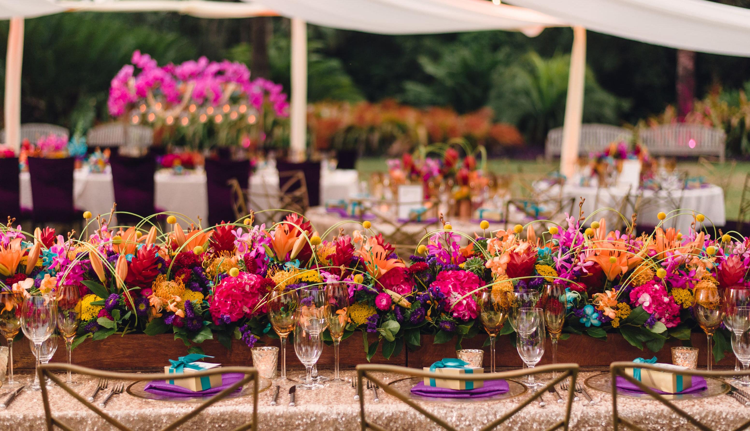 Combinações de cores certeiras para a decoração do casamento